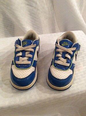 EUC Nike Baby Toddler Boys Athletic Shoes Size 7c Color Blue White