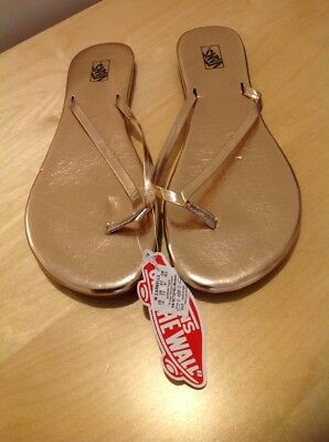 Womens Vans Off The Wall, Uk7.5 Carmelle Rose Gold Espadrille. Flipflops NEW