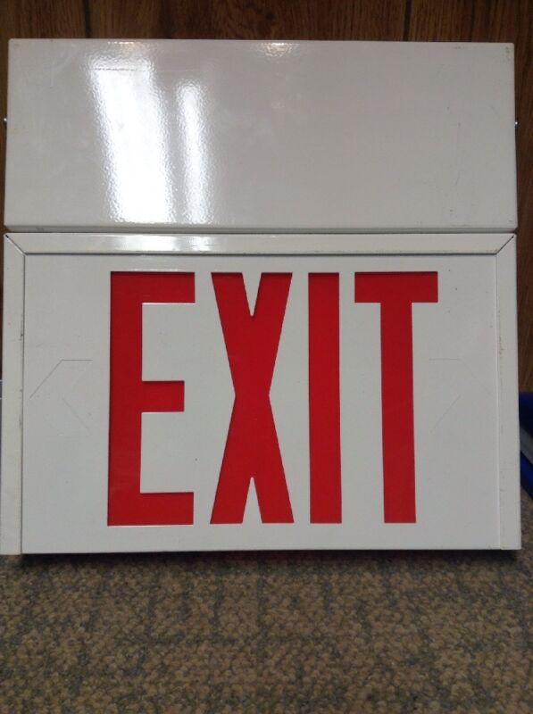 1~ Sure-Lites UN1SRWLED 120/277V Exit sign.
