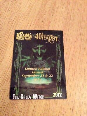 Knott's Scary Farm 40th Halloween Haunt The Green Witch LE 2012 Card (Halloween Haunt Green Witch)