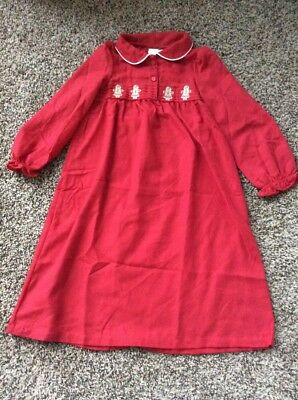 NWT Gymboree Holiday Red Gingerbread Nightgown Christmas Girls Xs 4 - Christmas Nightgowns Girls