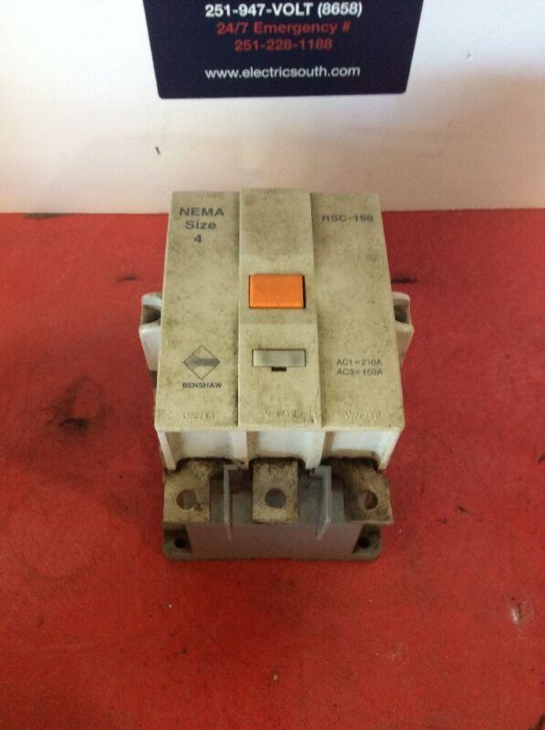 Benshaw NEMA Size 4 120 Volt Coil RSC-150