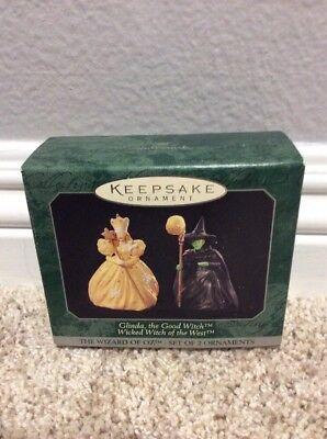 Hallmark Keepsake Ornament Wizard Of Oz GLINDA WICKED WITCH OF THE WEST NEW 1997