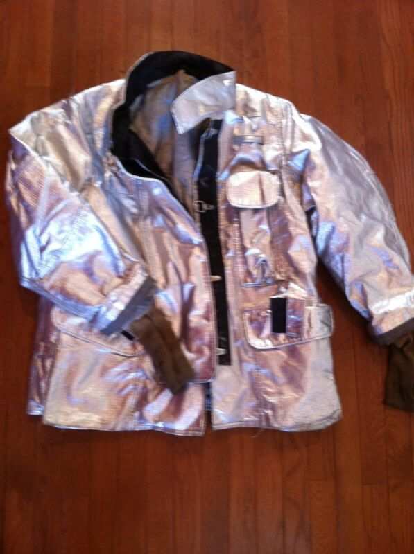 LION JANESVILLE Firefighter Proximity Jacket CSAX=90 42 42R Very Good Turnout