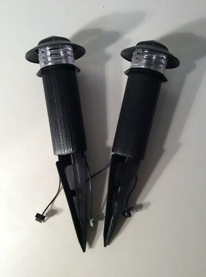 Lot of 2 Malibu Tier Lights 7 Watt Model LM4 Landscape Path Light 7 Watt Tier Light