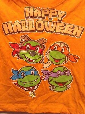 NEW Ninja Turtles Happy Halloween 18M Orange Long Sleeve Shirt TMNT](Happy Halloween Nickelodeon)