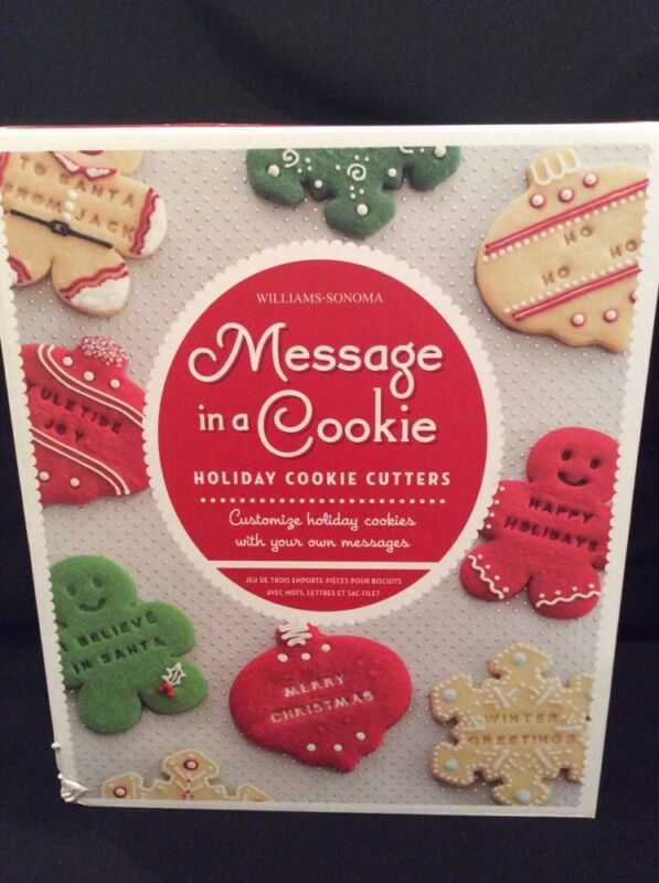 MESSAGE IN A COOKIE Williams Sonoma Christmas/Holiday Cookie Cutters & Stampers