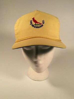 Vintage - Lady Bird Johnson - Golf Course - Yellow/Green - Cardinal - Hat - Cap