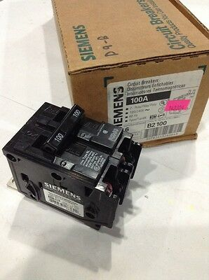 Siemens Ite B2100 New Circuit Breaker 2 Pole 100 Amp 240 Vac Box Of 6
