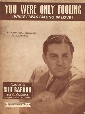 You Were Only Fooling, Blue Barron Photo, 1948  vintage sheet music