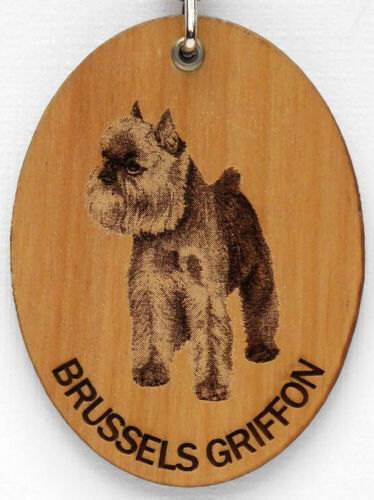 BRUSSELS GRIFFON WOODEN KEY CHAIN