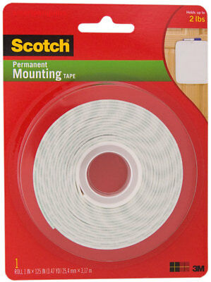 3M Scotch Permanent Foam Mounting Tape Double Sided 1