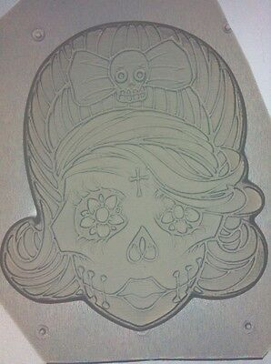 Flexible Resin Or Chocolate Candy Mold Girl Female Sugar Skull Day Of The Dead (Sugar Skull Molds)