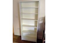 White Ikea bookcase