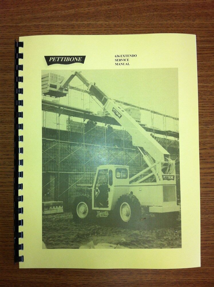 Pettibone 636 Forklift Service Repair Manual