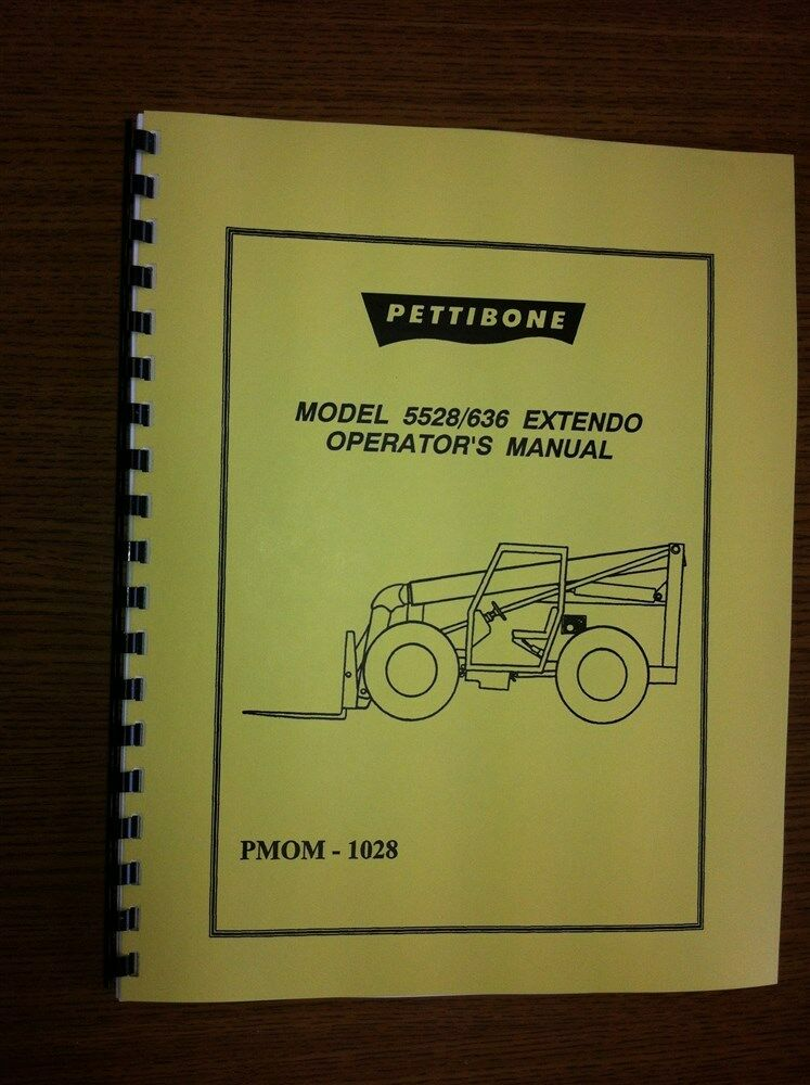Details About Pettibone Forklift 5528 636 Operators Manual