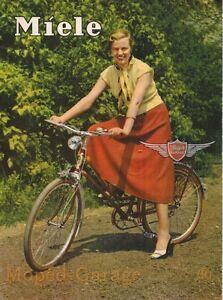 Miele Fahrrad original Din A5 Werbung Reklame Prospekt 50er Jahre Kult Neu