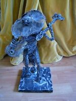 Guitar Player Sculpture