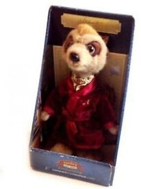 ALEXANDI Compare The Meerkat Official Plush Toy In box with certificate BRAND NEW - CLACTON CO15 6AJ