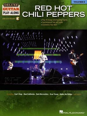 Red Hot Chili Peppers Deluxe Guitar Play-Along TAB Music Book/Audio Snow Hey
