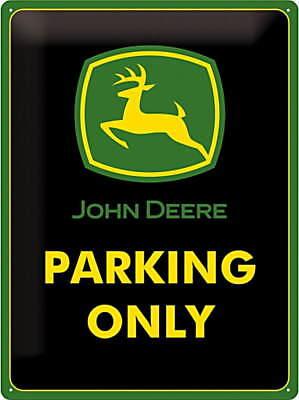John Deere - Parking Only Blechschild, 30 x 40 cm, gewölbt & Motiv geprägt (John Deere Parking)