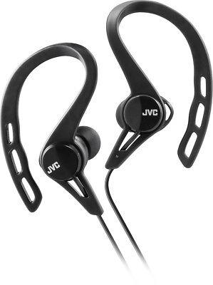 JVC HA-EBR80B Sport Ear Clip Headphones with Remote & Mi
