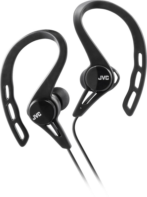 JVC Sport Clip-On Earbud Headphones Black HAECX20B