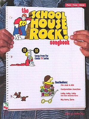 The School House Rock Songbook Sheet Music Piano Vocal Songbook NEW 002505514 ()