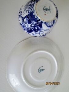 Royal Crown Derby Cup and Saucer - Blue Mikado Kitchener / Waterloo Kitchener Area image 2