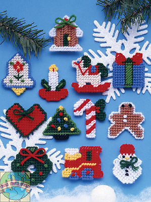 Plastic Canvas Kit Design Works 12 Country Style Christmas Ornaments Dw1221