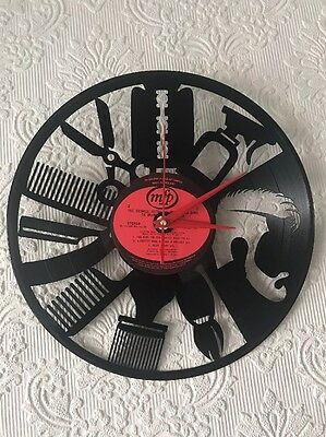 Vinyl  Record  Barber Clock