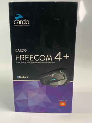 Cardo FREECOM 4 Plus Motorcycle 4-Way Bluetooth System Headset (Black, Single)