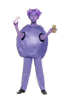Roald Dahl Deluxe Violet Beauregarde Costume,Licensed Fancy Dress, Age 7-9 - Lila Fancy Dress Kostüm