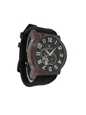 Croton Cn307118bsbr Mens Oval Copper Tone Automatic 12   24 Hour Analog Watch