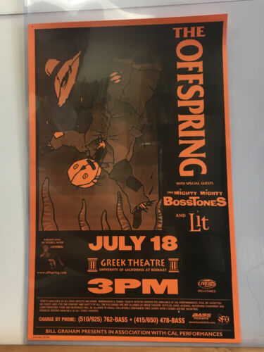 The Offspring with Mighty Mighty Bosstones & Lit - July 18, 1999 Concert Poster