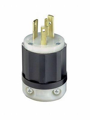 Leviton 2621-P 30Amp 250V Industrial Grade Locking Plug, Black and -