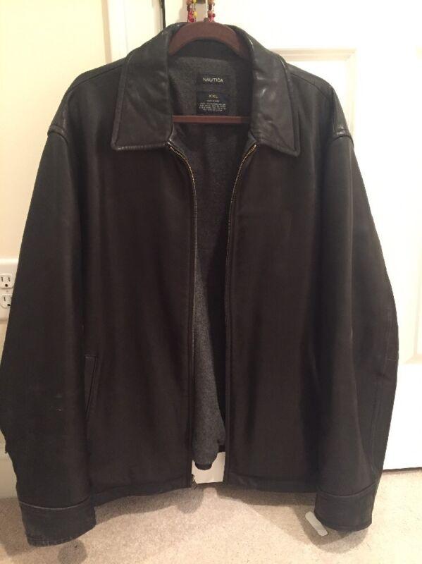 NAUTICA, Size: XXL, Black Leather Jacket