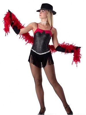 Dangerous Dance Tap Costume Chicago Dress and Gloves New Clearance Child X-Large