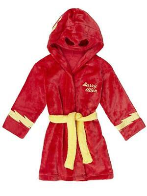 DC Comics Boys The Flash Red Plush Robe Size 2T 3T 4T 4/5 6/7 8 10/12 - Robes Cheap