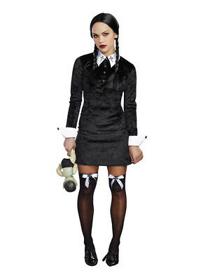 Gothic School Girl Wednesday Addams Family Values Costume Dress - Mob Girl Costume