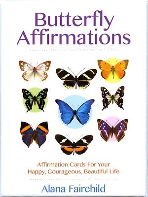 BUTTERFLY AFFIRMATIONS CARDS Kit Card Deck Boxed Set butterflies - Affirmations Kit