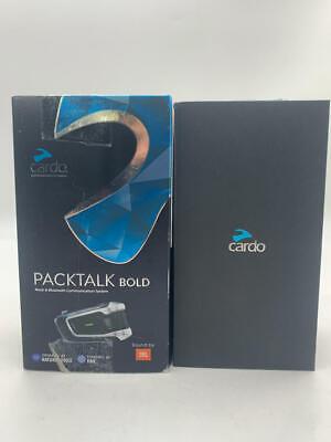 Cardo PACKTALK Bold Motorcycle Bluetooth  System Headset (Black, Single Pack)
