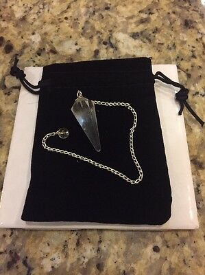 Clear Quartz Crystal Point Pendulum