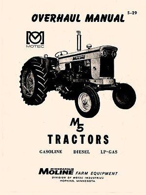 Minneapolis Moline M5 Tractor Overhaul Service Manual