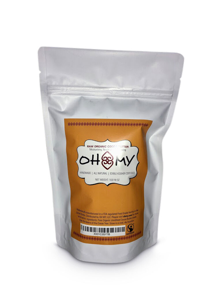 Raw Organic Cocoa Butter Edible Kosher Moisturizer for Body