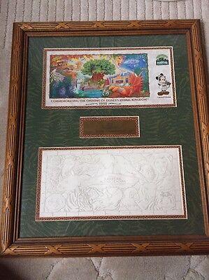 1998 Disney World Animal Kingdom Limited Edition Opening Framed Presentation!