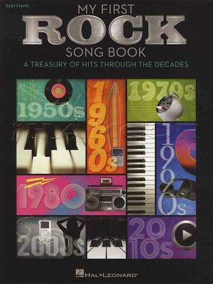 My First Rock Song Book Easy Piano Sheet Music Book 1950s to 2010s Beatles Queen ()
