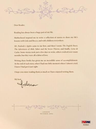 MADONNA Signed Autograph Letter LE 5 Series Children