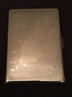 Cigarette Case Engraved with the Isle Of Man TT Road Race