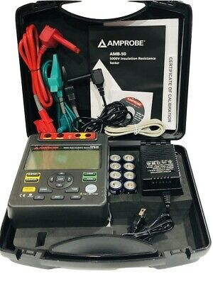 Amprobe Amb-50 Industrial High-voltage Insulation Tester With Nist Certificate